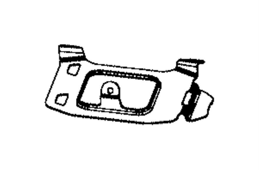 2017 Jeep Renegade Bracket. Seat. Trim: [lux leather
