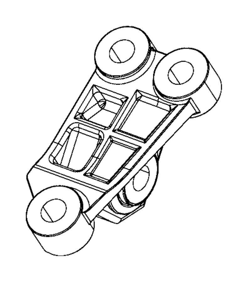 2017 Jeep Renegade Bracket. Engine mount. [6-speed c635