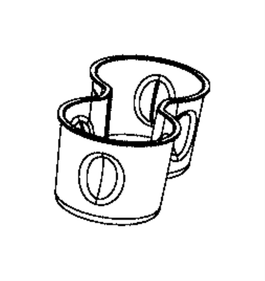 Jeep Compass Liner. Cup holder. Trim: [*o0] color: [black