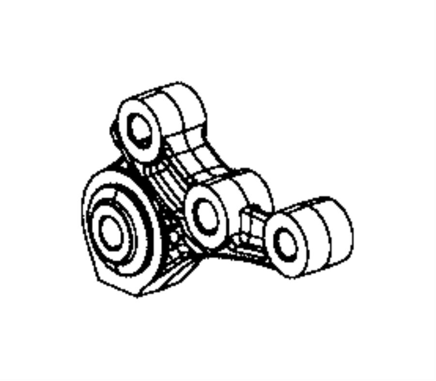 Jeep Compass Bracket. Engine mount. [6-speed c635 manual