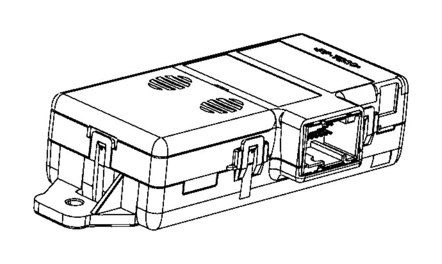 2015 Ram 3500 Module. Parking assist. [parksense rear park