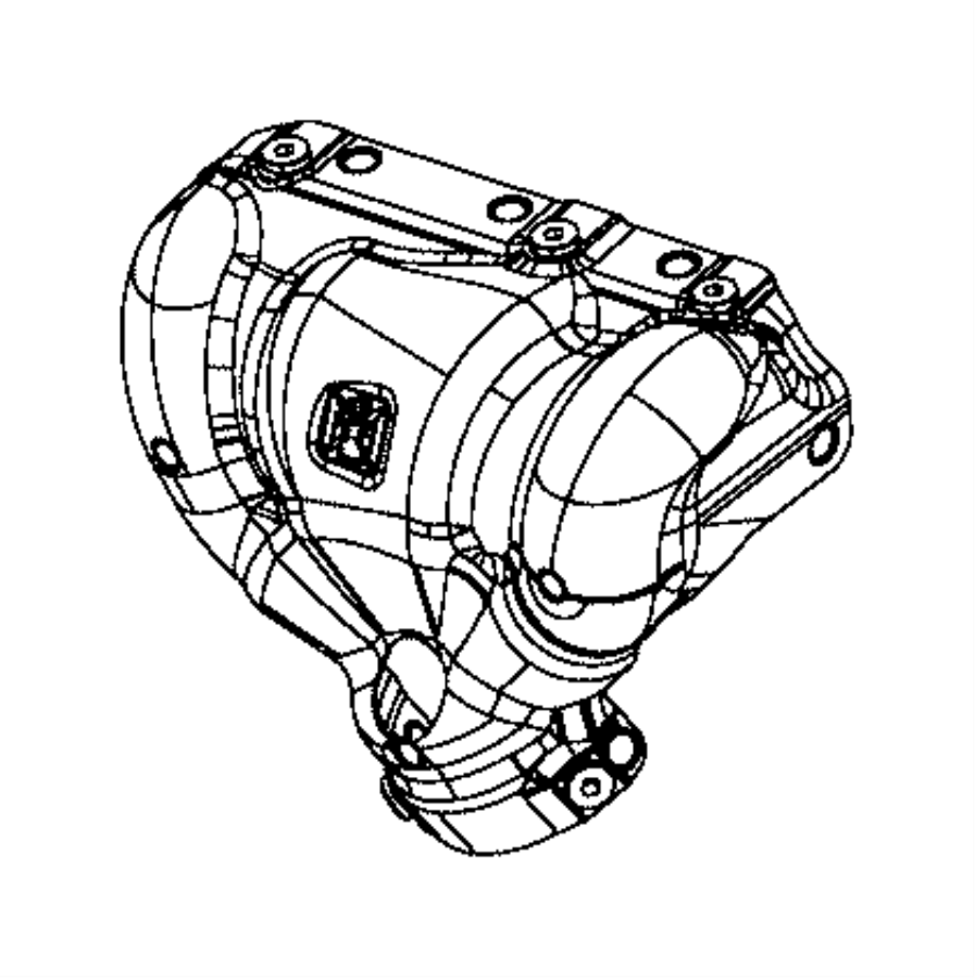 Jeep Compass Shield. Exhaust. Catalytic converter