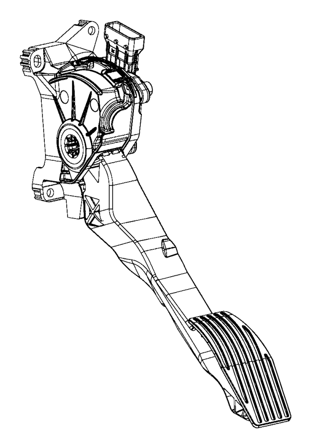 Jeep Compass Pedal. Accelerator. Export. Nhr, ebs, eaq