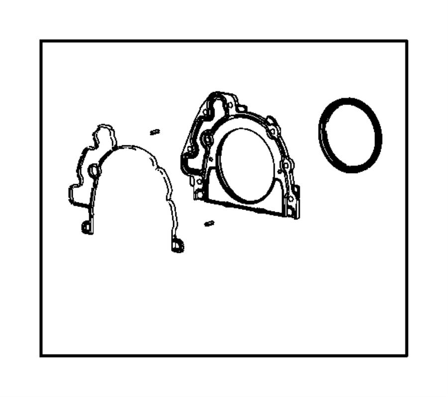 Jeep Wrangler Seal. Crankshaft oil, retainer. Rear. Engine