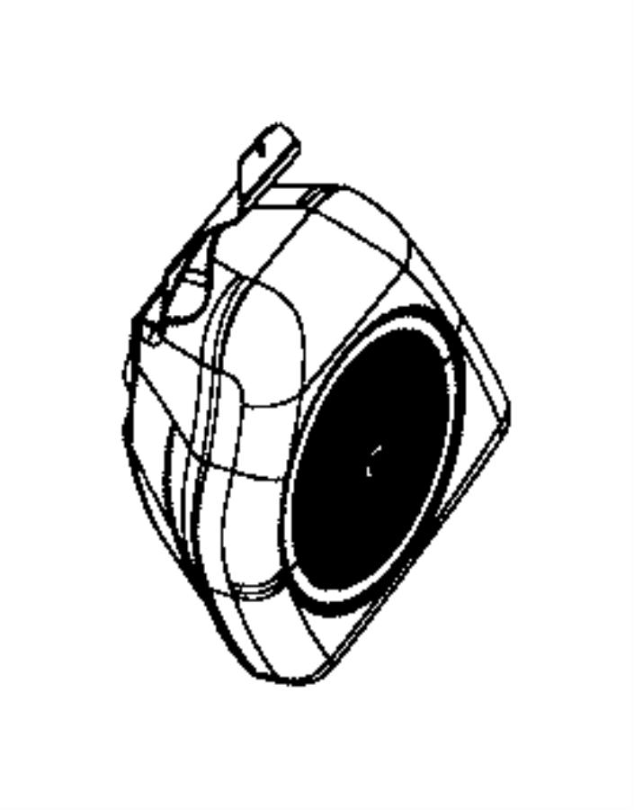 Chrysler 300 Speaker. Sub woofer. Trim: [all trim codes