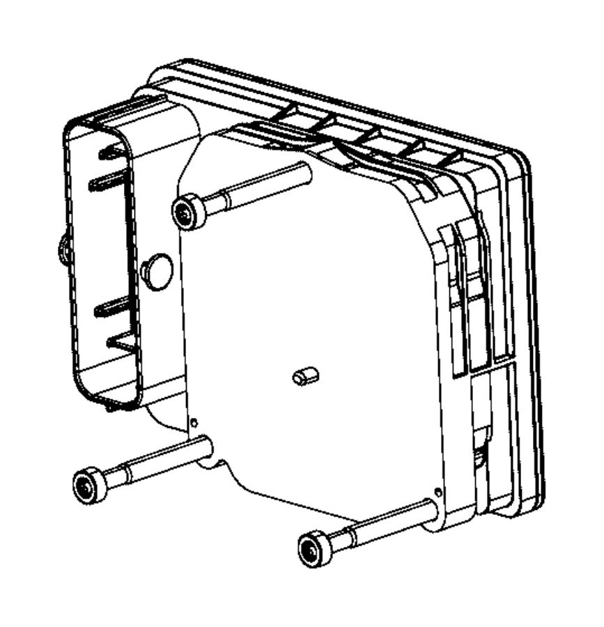2014 Dodge Dart Module. Anti-lock brake system. Hydraulic