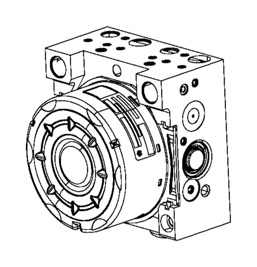 Jeep Cherokee Control unit. Anti-lock brake. [speed