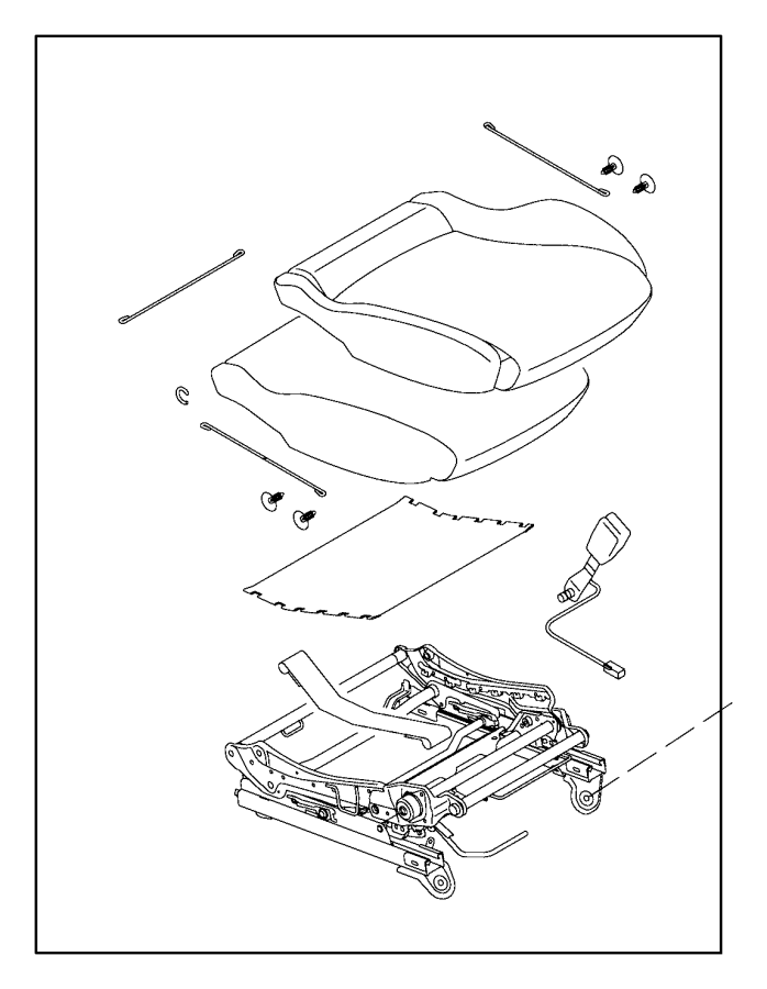 Fiat SPIDER Adjuster. Manual seat. Canada, mexico