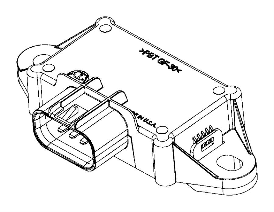 2017 Dodge Challenger Module. Fuel pump control. Body