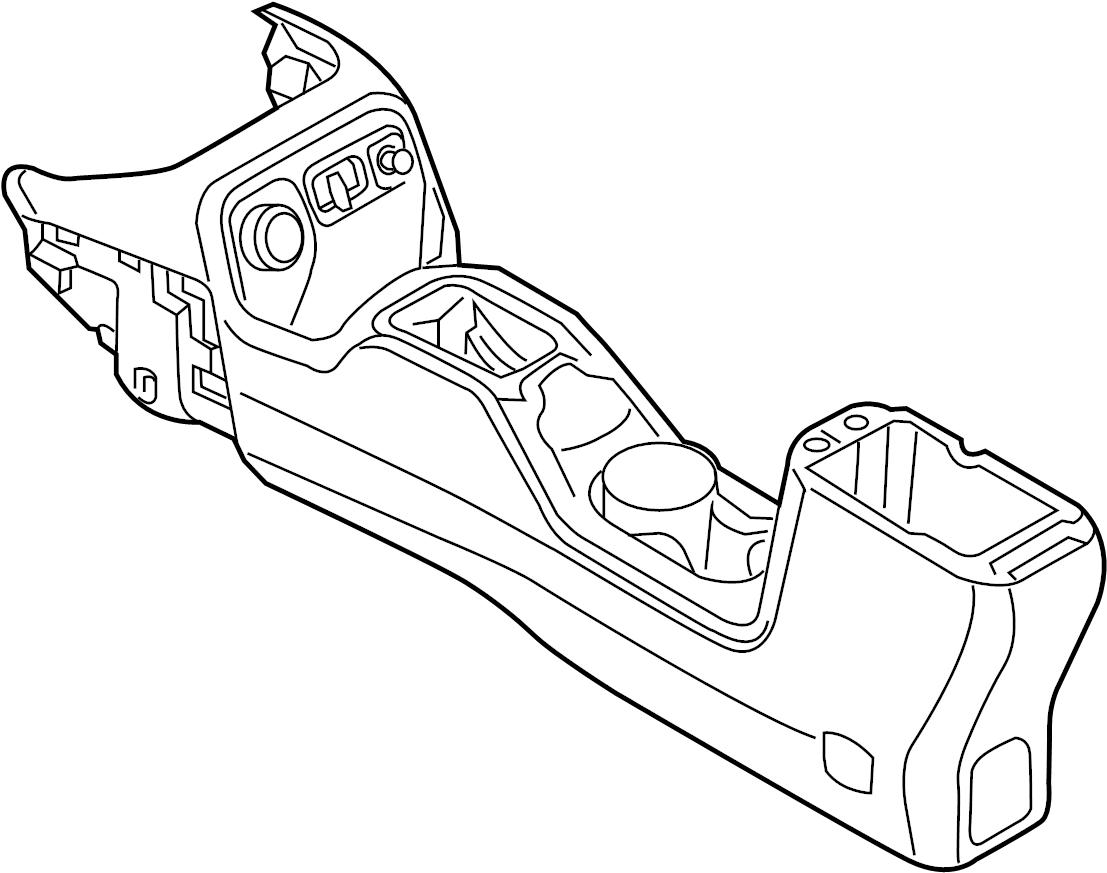 Jeep Wrangler Console. Floor. Rear. [center console parts