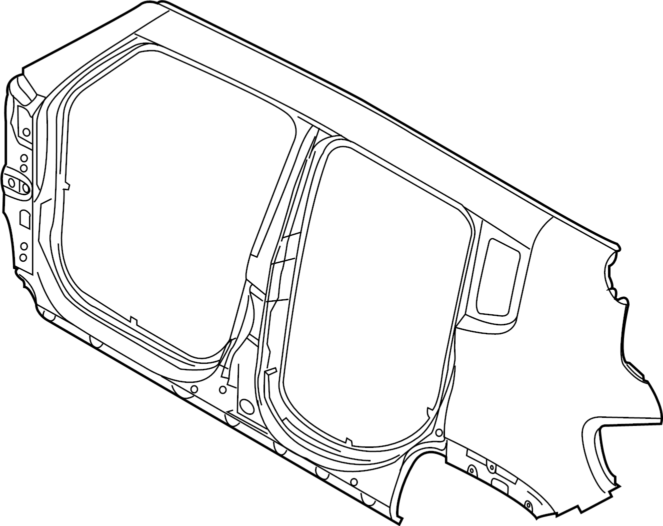 Chrysler Pacifica Reinforcement. Body side aperture front