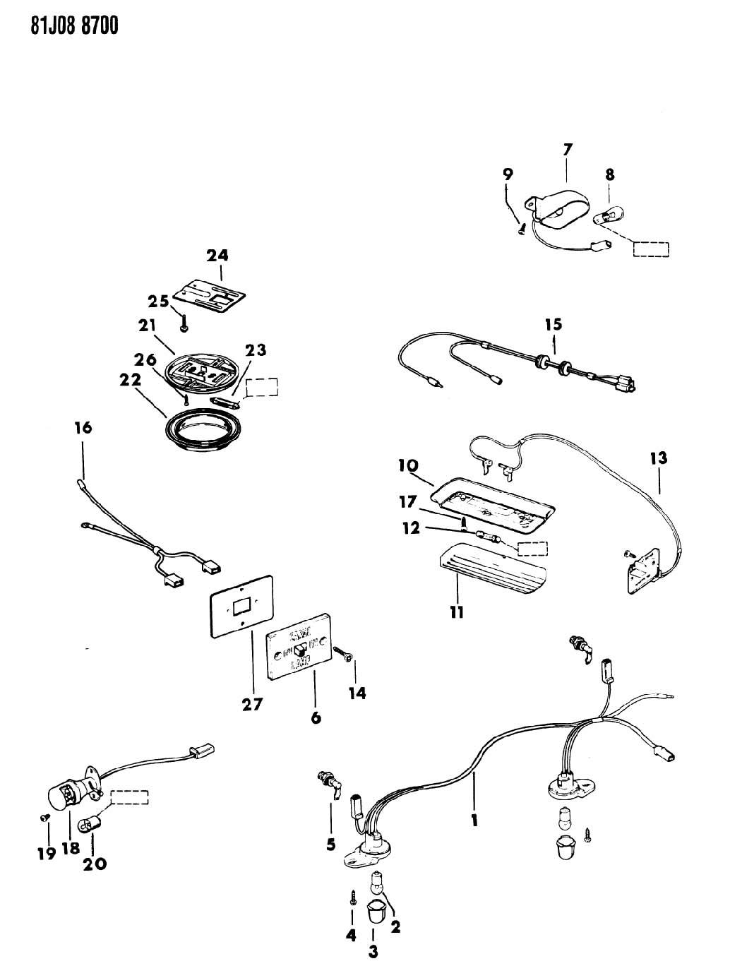 Jeep Cherokee Lamp Underhood Lamp Underhood Plastic