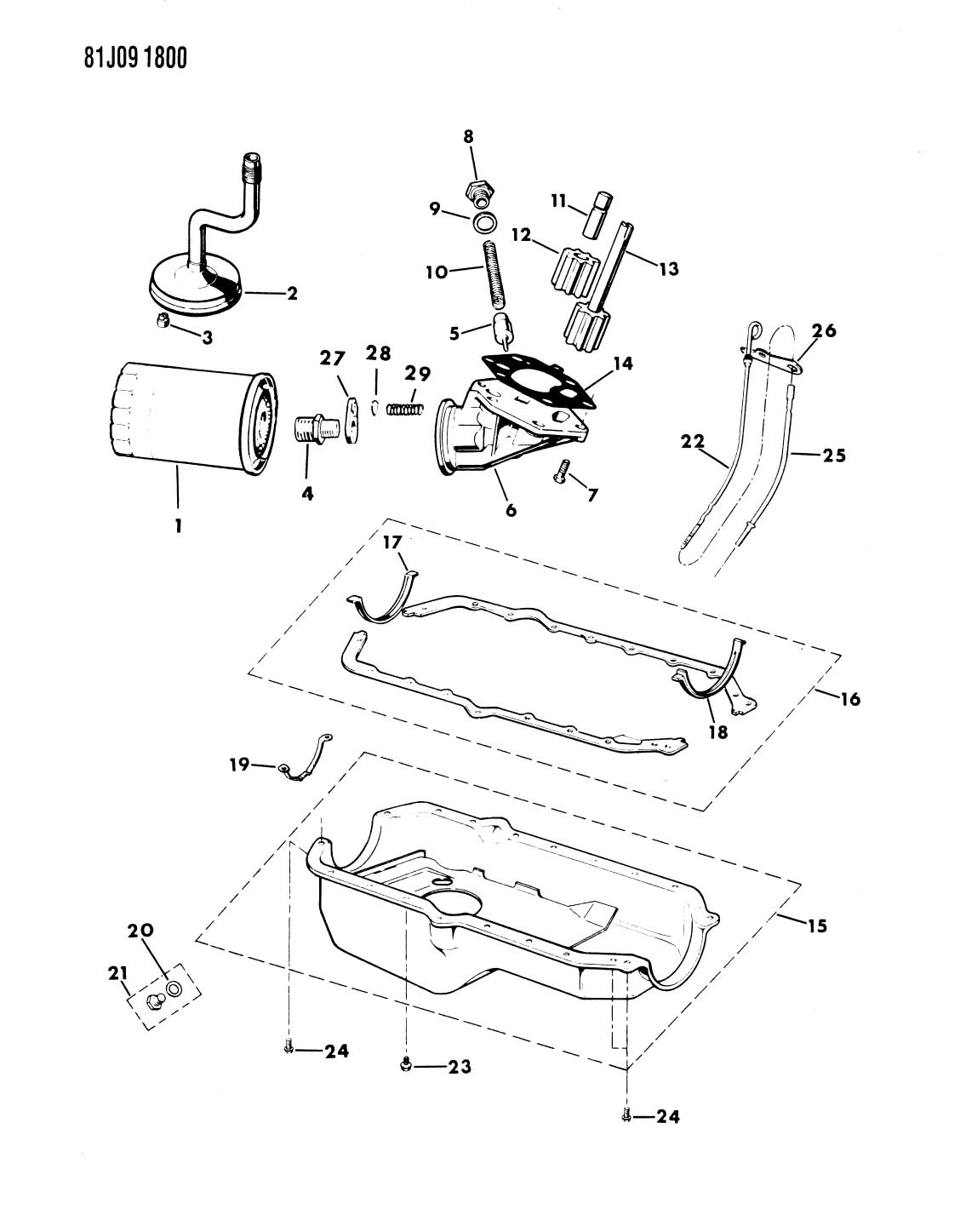 Jeep Support Engine Oil Pan Knockdown