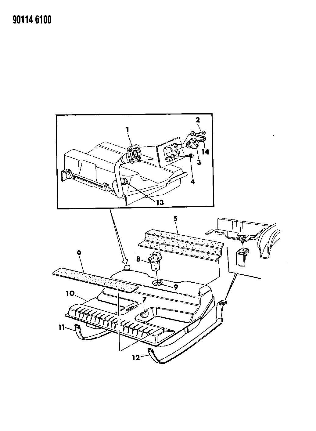 1992 Dodge Dakota Valve. Fuel tank rollover safety