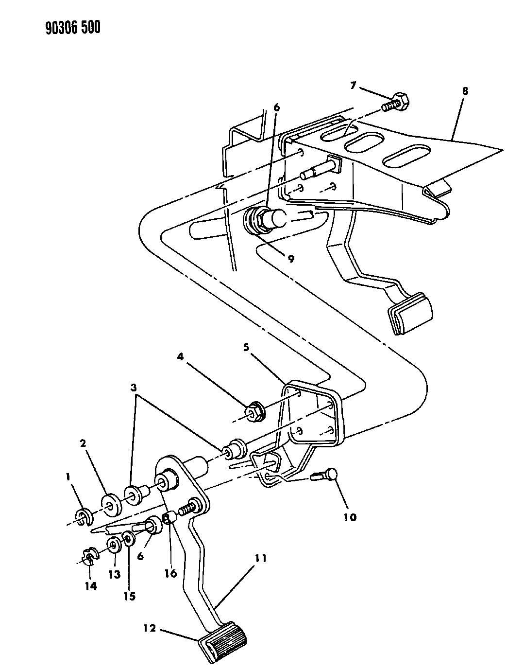 Dodge Dakota PEDAL, CLUTCH N BODY WITH 2.5L, 3.9L ENGINE