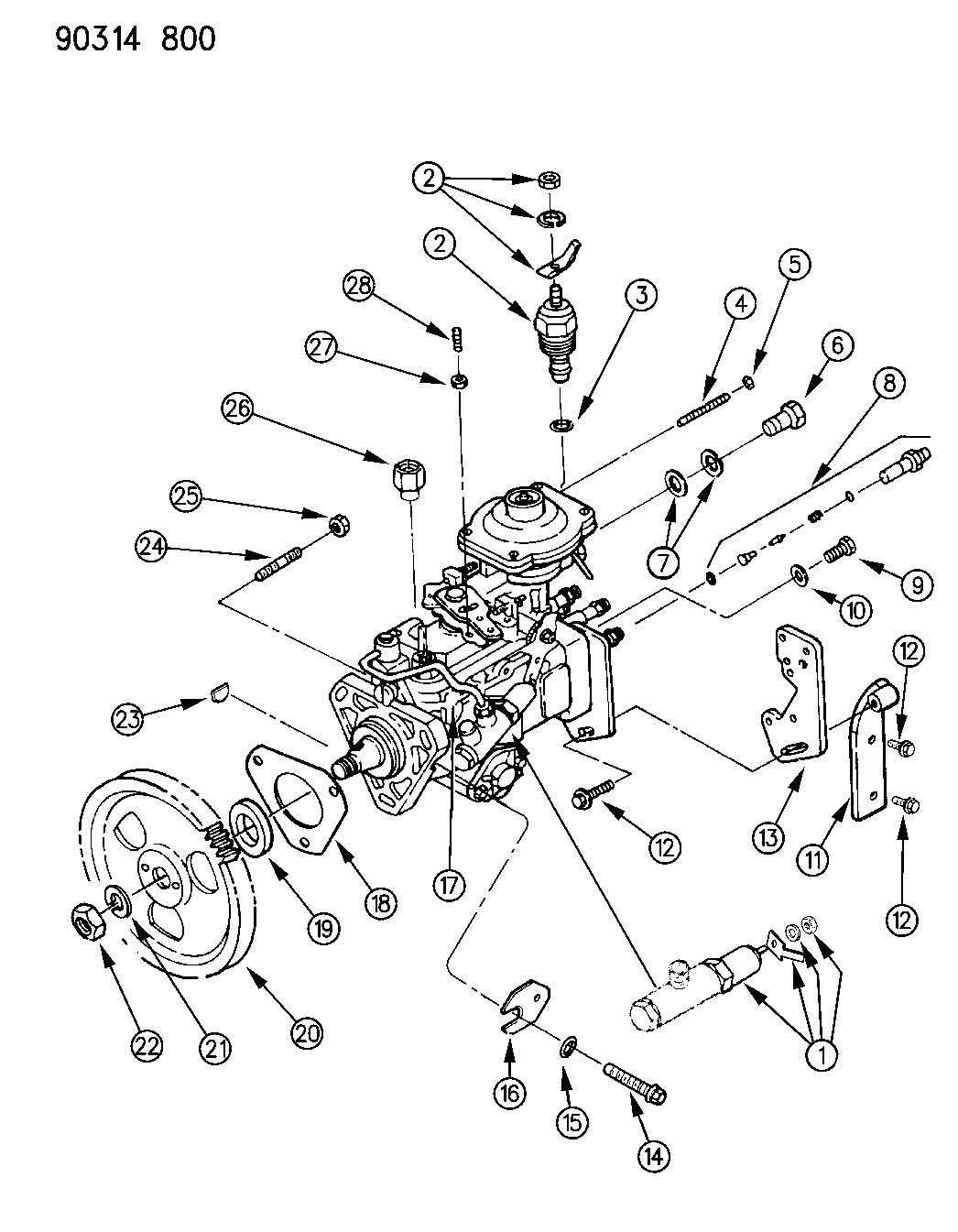 Dodge Ram 1500 Washer. Fuel line banjo. Dieselengine