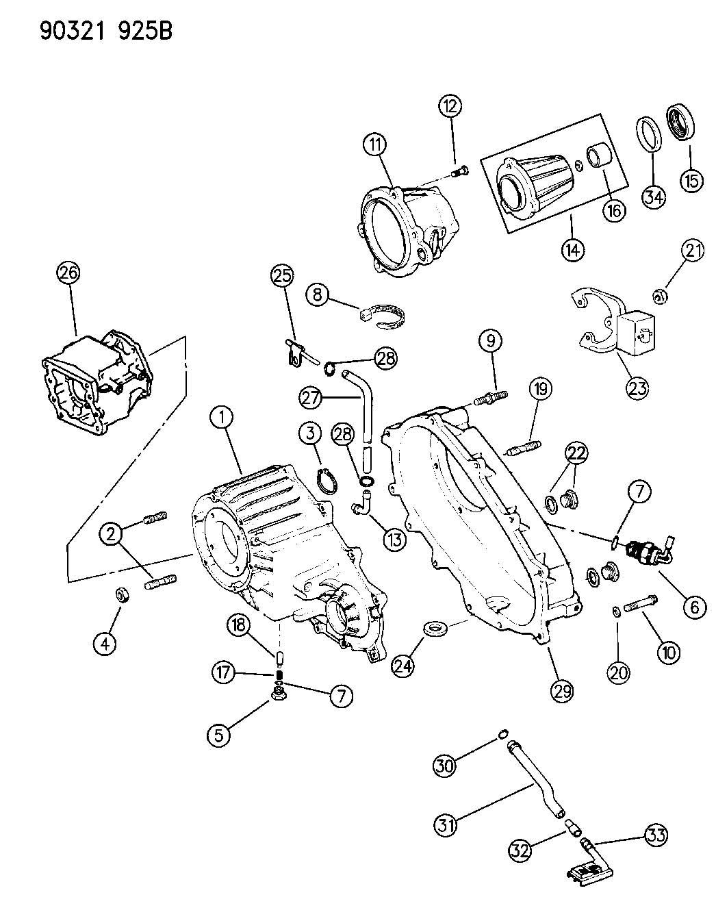 Dodge Dakota Case Transfer Case Rear Transfer Rear Rear