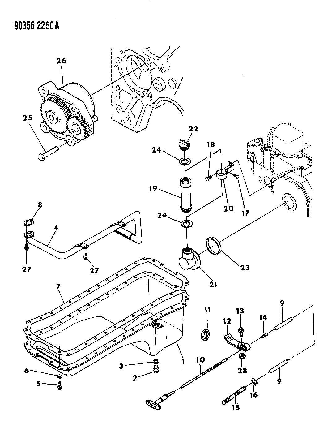 Dodge Ram 2500 Gasket. Oil filler connector