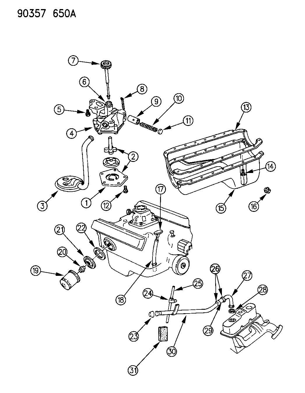 1996 Dodge Dakota Pan. Engine oil. Wheeling, eln