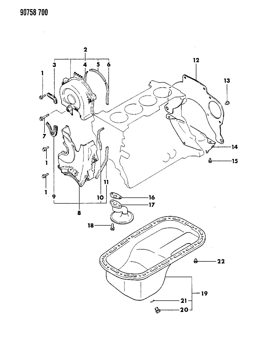 Chrysler Sebring Bolt. Hex flange head. M6x18. Timing belt