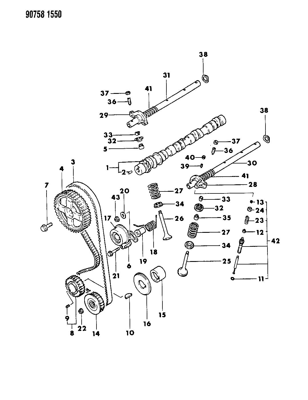 Chrysler Cirrus Nut. Hex flange. M8. Inlet manifold