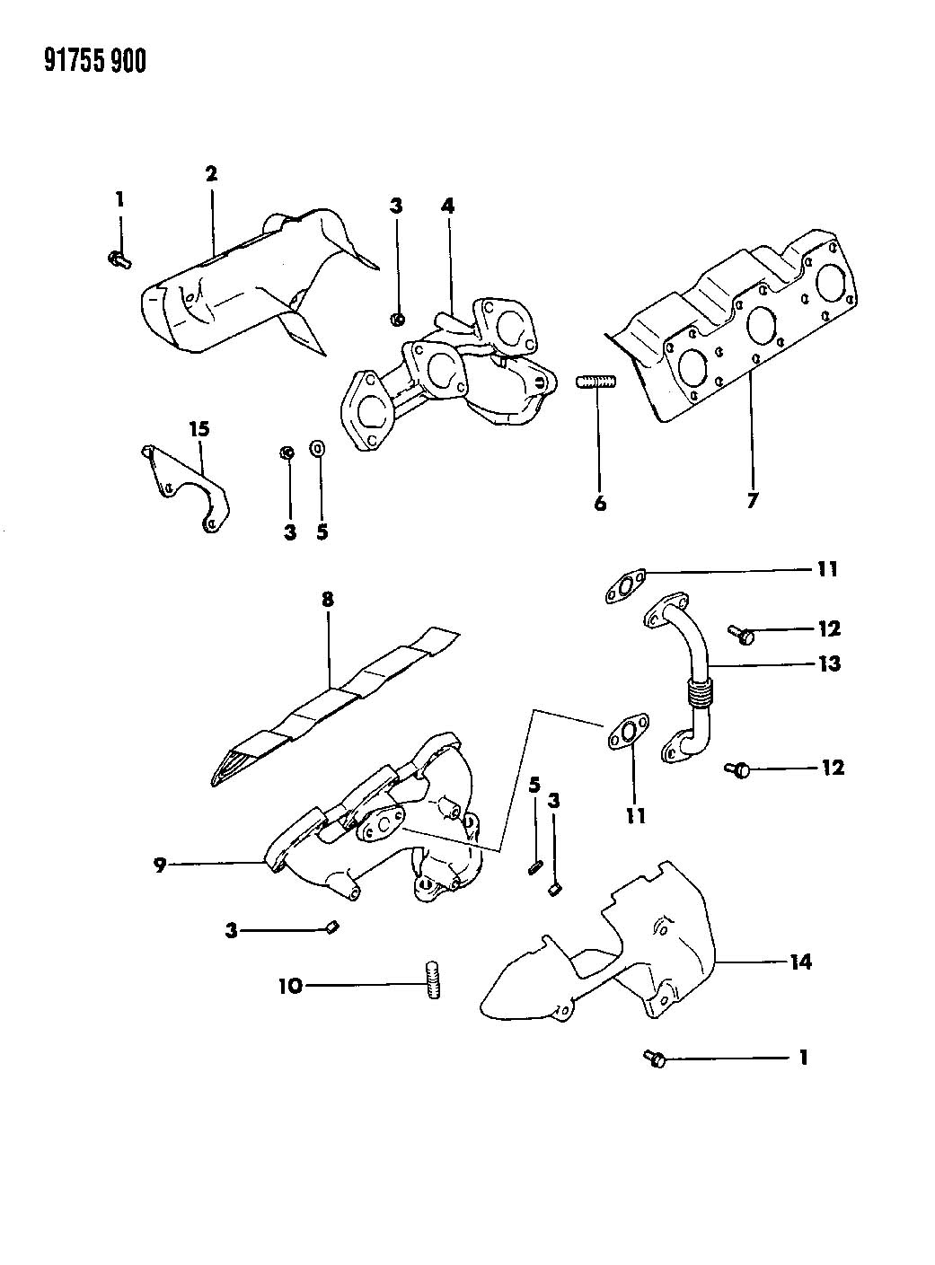 Dodge Grand Caravan Nut. Catalytic convertor. Inject, ohd