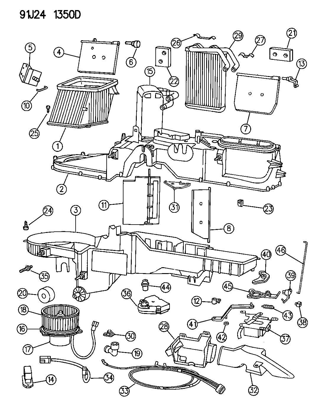 1995 Jeep Actuator. Heater. Heatdefrost, defrost
