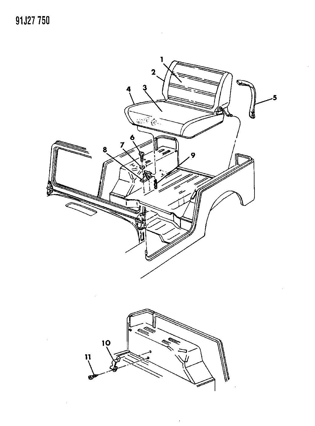 Jeep Wrangler Tj Penger Seat Parts Diagram. Seat. Auto