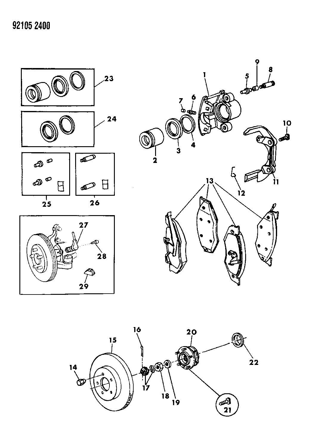 Service manual [1992 Chrysler Lebaron Rear Differential
