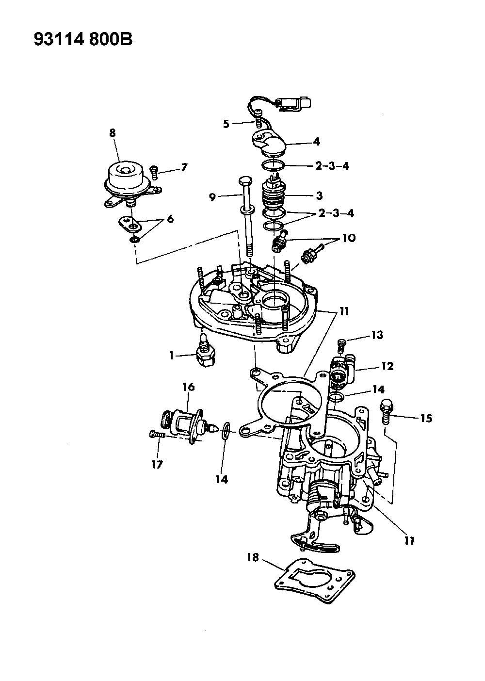 NEW Genuine MOPAR 04418911 Fuel Injector for Lebaron Grand