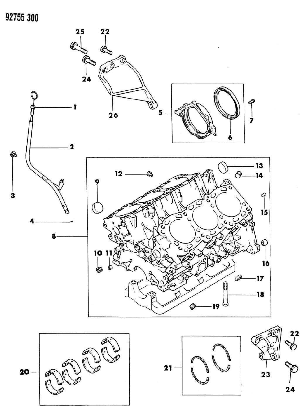 Chrysler Sebring Plug. Cylinder block oil hole. Engine oil