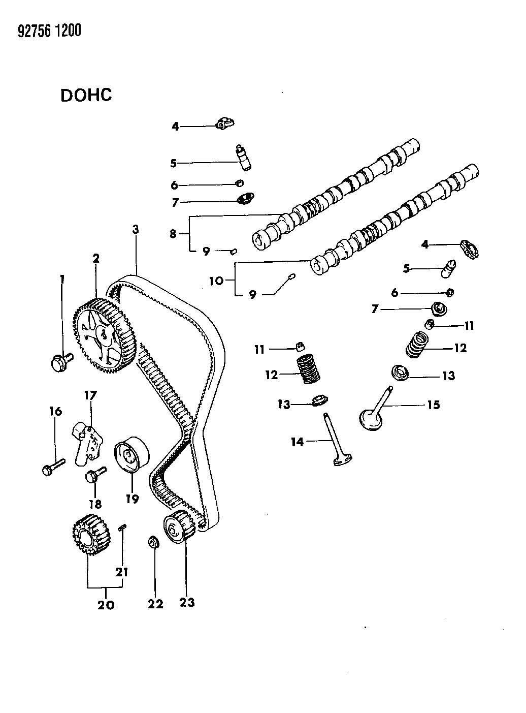 Chrysler Sebring Gear Camshaft Ebg Inject Ohd