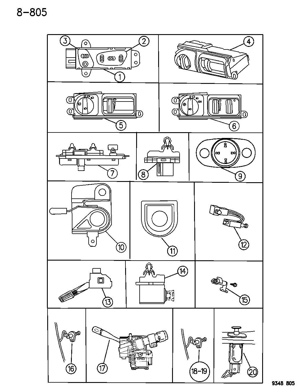 Dodge Intrepid Switch. Security alarm. Disarm. Left