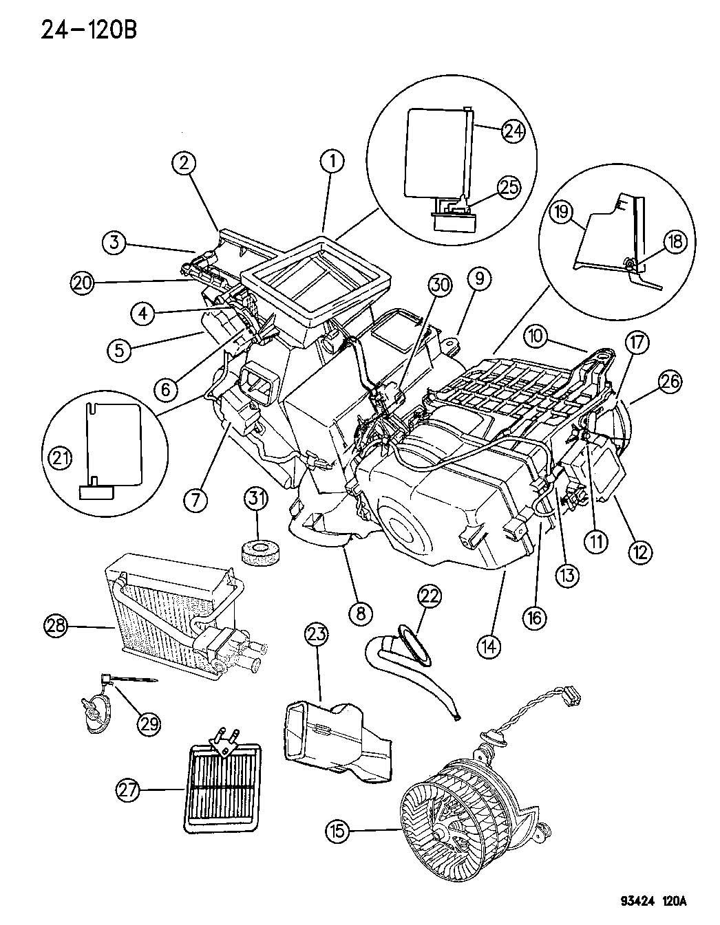 Dodge Intrepid Evaporator Air Conditioning