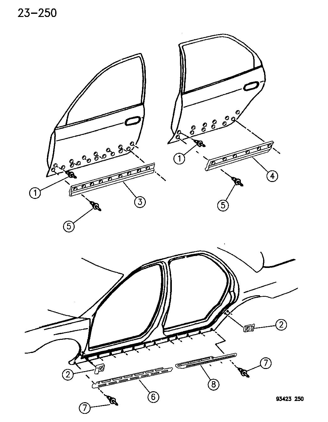 Plymouth Prowler Rivet. Blind. 125. Hood, rear. Trim: [all