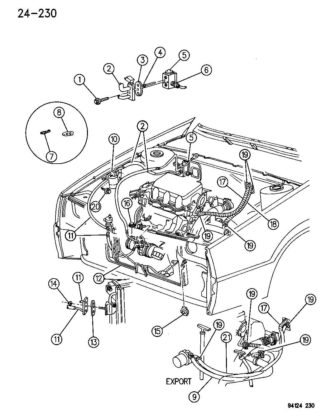 1995 Dodge Valve. A/c expansion. Abody, illustrations