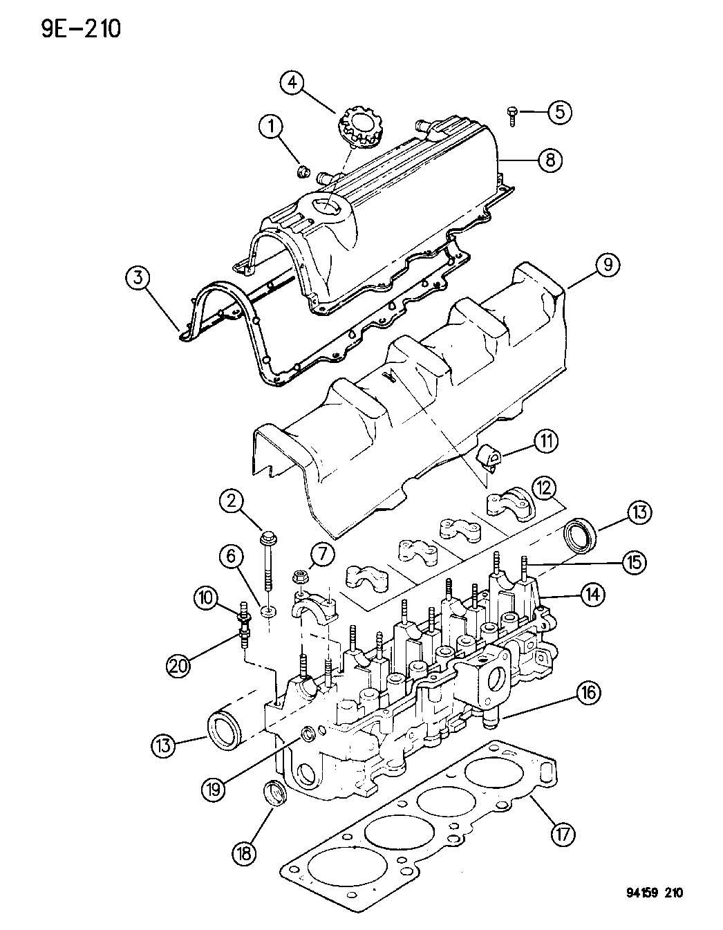Jeep Wrangler Bolt Cylinder Head Hex Flange Head M11x1