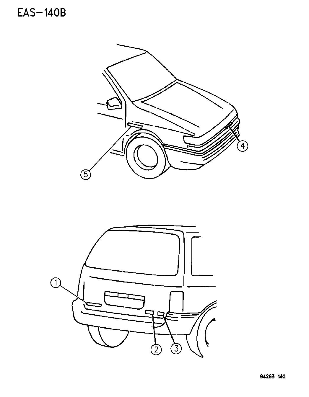 Plymouth Voyager Nameplate. Grand caravan. Color: [no