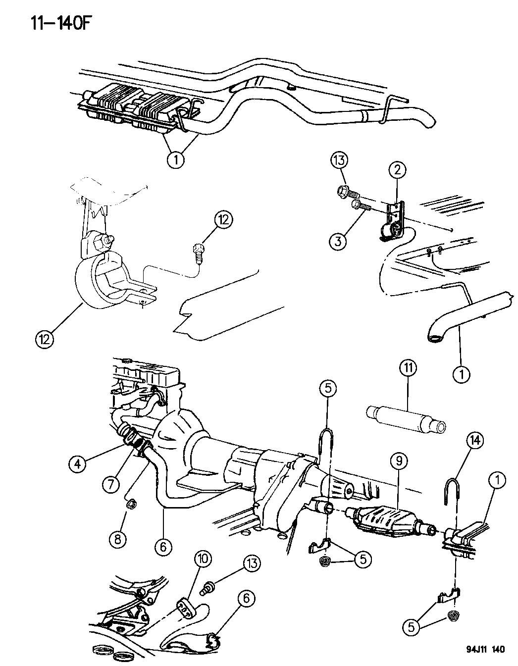Dodge Hanger Exhaust Wtailpipe