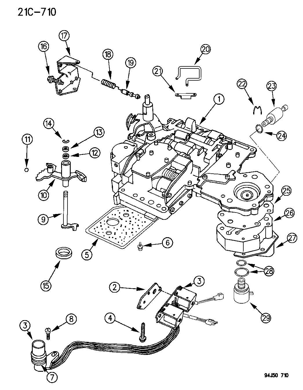 Jeep Grand Cherokee Valve Body Automatic Transmission