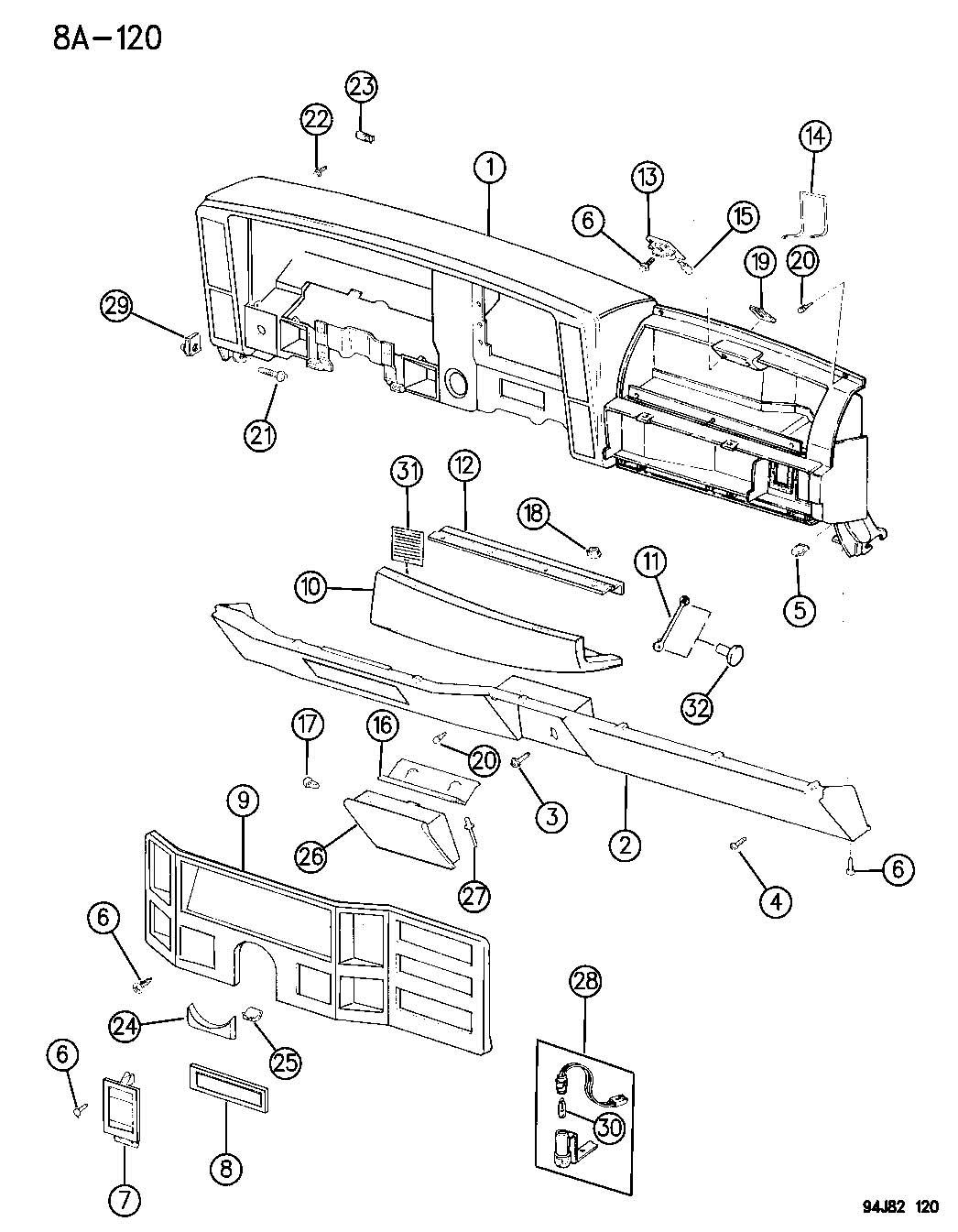 Jeep Grand Cherokee Bumper Glove Box Door Rubber Fuel