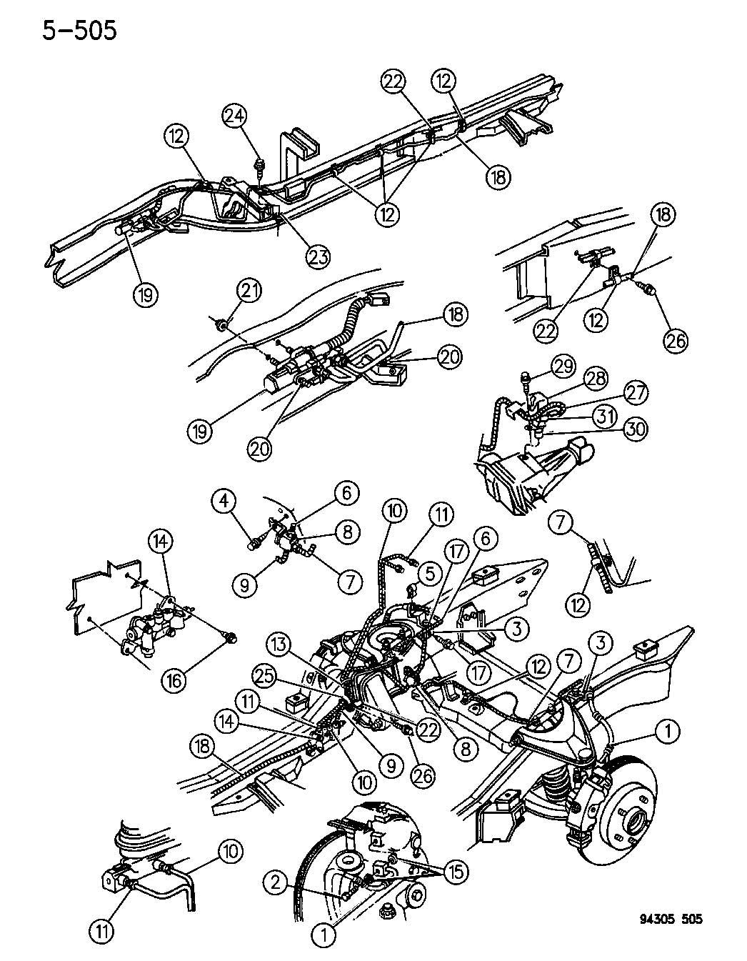 1992 Dodge Dakota Valve assembly, valve assembly, pressure