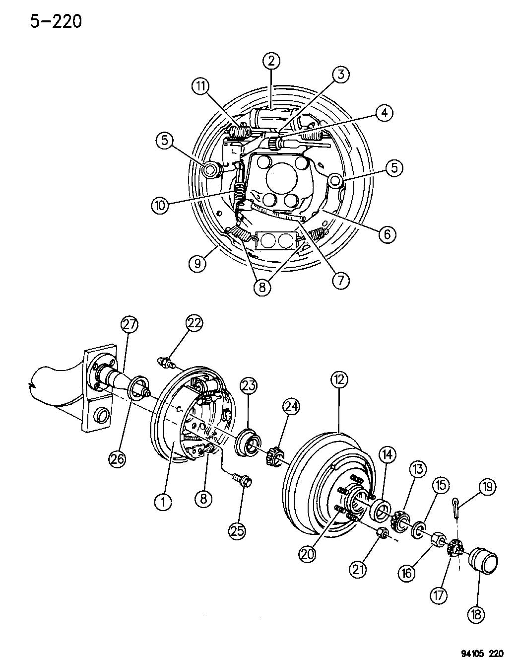 Service manual [Rear Diff Axle Removal 1994 Plymouth