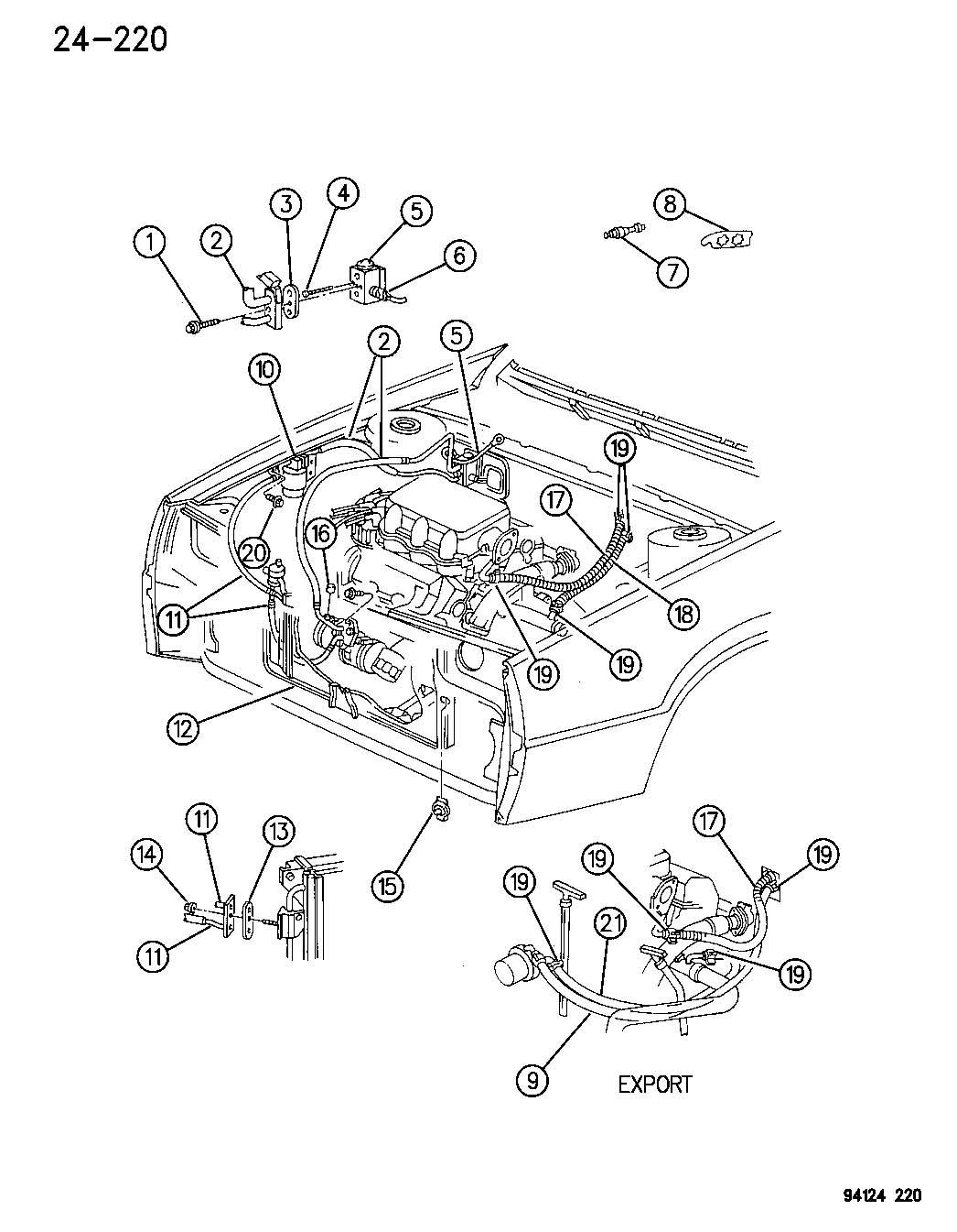 Dodge Neon Valve. A/c expansion. Abody, illustrations
