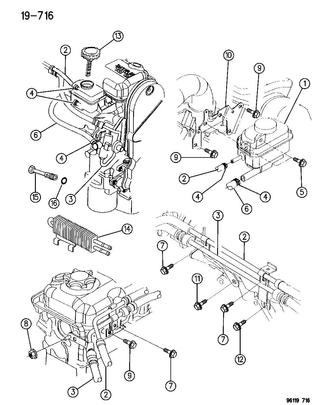 2000 Dodge Stratus Hose. Power steering pressure. Pump to