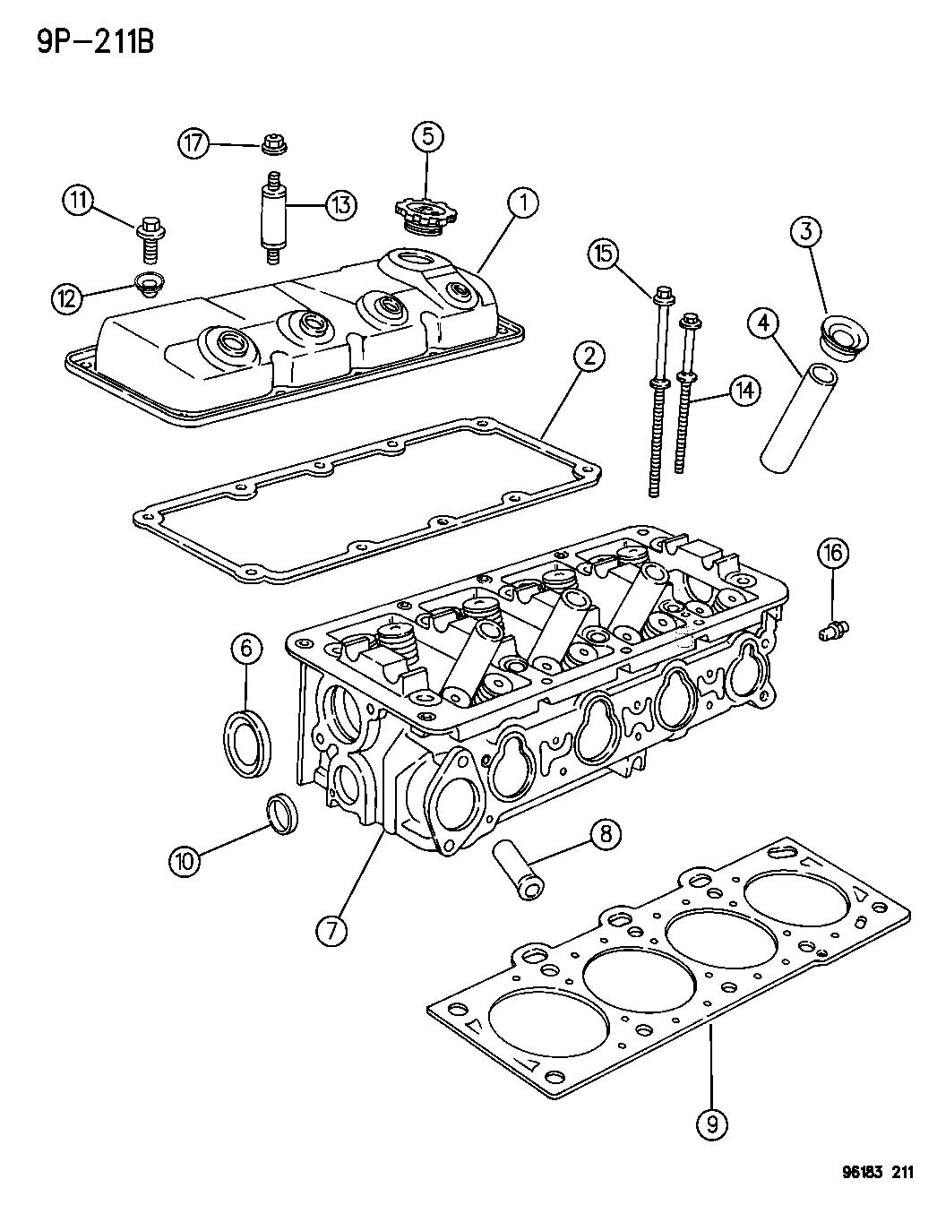 2002 Dodge Neon Head. Cylinder. Levemissions, ulev