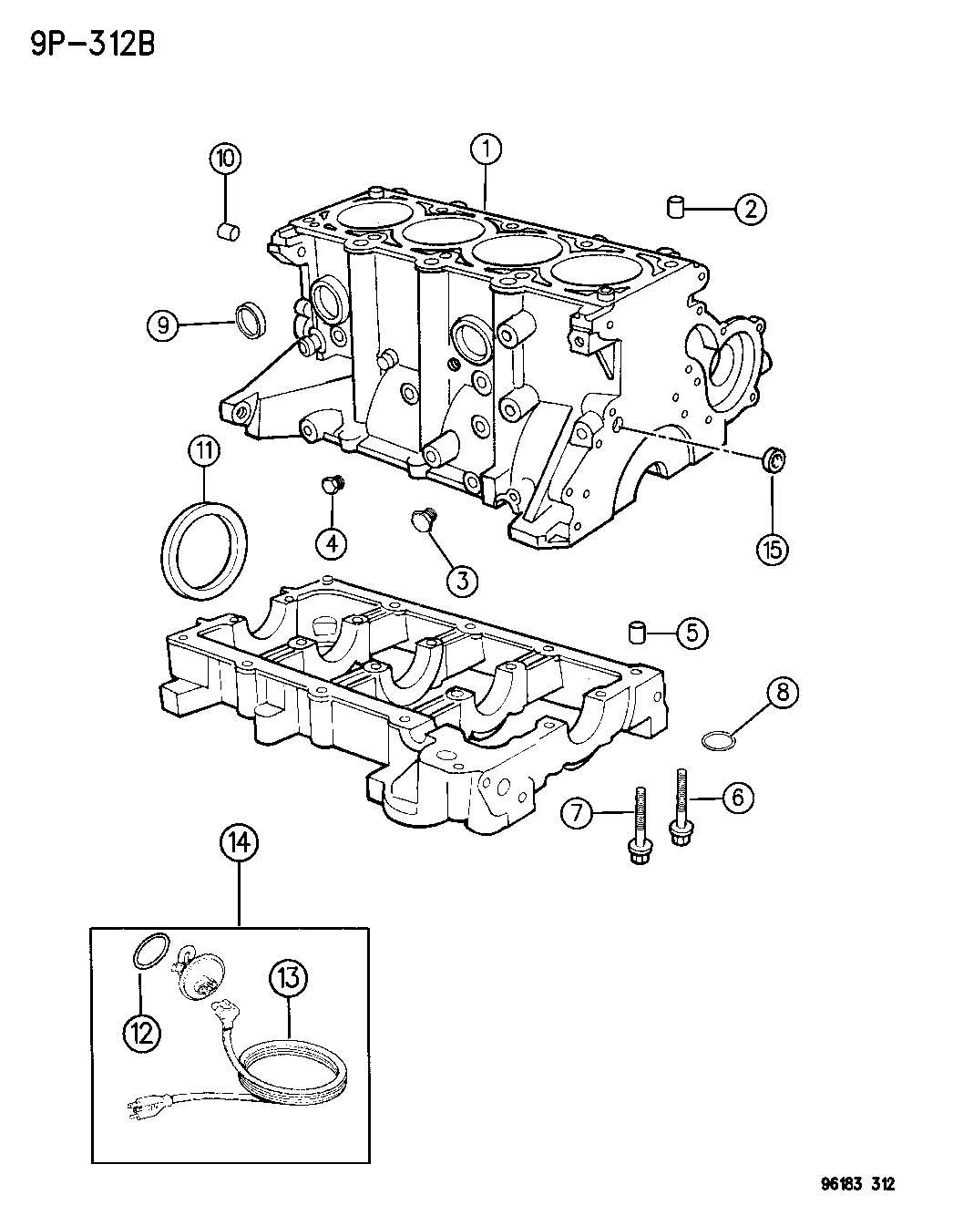 Plymouth Neon Heater. Engine, engine block. Cylinder block