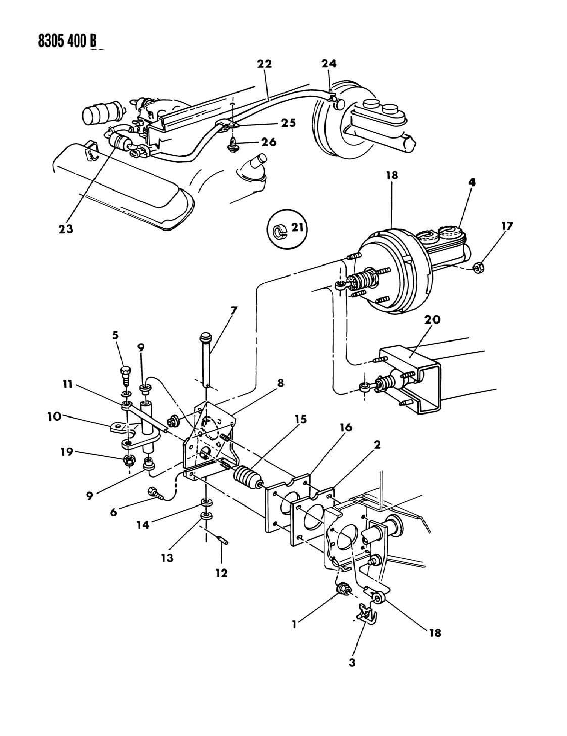 Chrysler 300 Bushing. Pedal shaft. Automatic transmission