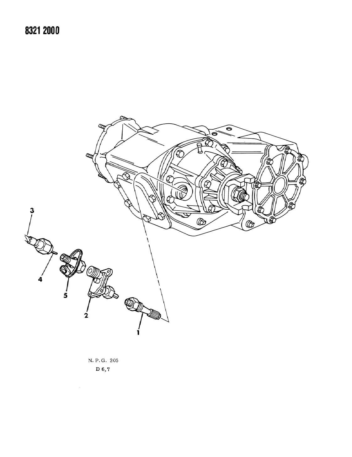 NEW Genuine MOPAR 5233152 Speed Sensor for Dakota, RAM