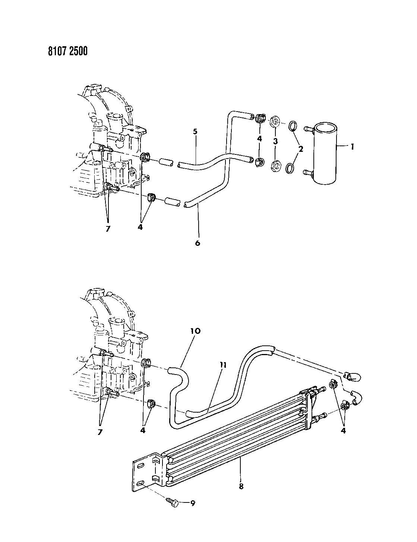 Dodge Oil Cooler 4 Cylinder Engine